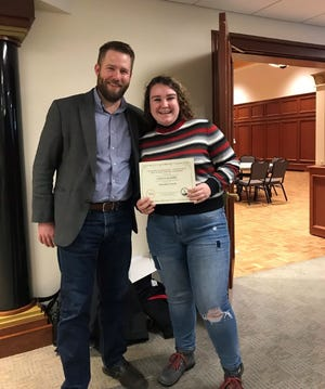 Grace Klimek earned first place in short fiction for her submission to the University of Wisconsin-Stevens Point High School Writers Workshop.