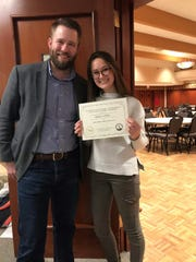 Anika Lewis was named the first alternate in poetry at the University of Wisconsin-Stevens Point High School Writers Workshop.