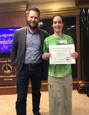 Lydia Gaulke earned the Distinguished Junior Award.