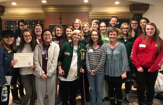 A group of D.C. Everest students attended the High School Writers Workshop at the University of Wisconsin-Stevens Point in December.