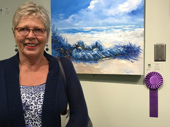 Mallo Bisset won Best of Show at the Palm City Art Associates' 2018 Art Show & Sale at the Palm City Cummings Library.