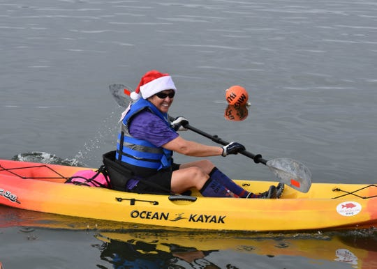 Patti Hackett was a 3K gold medal winner in the 2018 Keep Indian River Beautiful Paddle Dash.