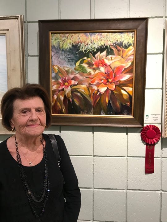 Jill Heveron won second place for her painting in the Palm City Art Associates' 2018 Art Show & Sale at the Palm City Cummings Library.