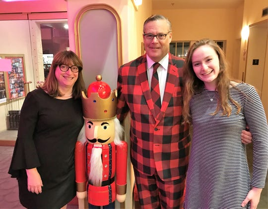 "Florida Arts & Dance Company Board President Joann Gallagher, left, with Bob Gallagher and Lilley Gallagher at a December performance of ""The Nutcracker"" at The Lyric Theatre in Stuart."