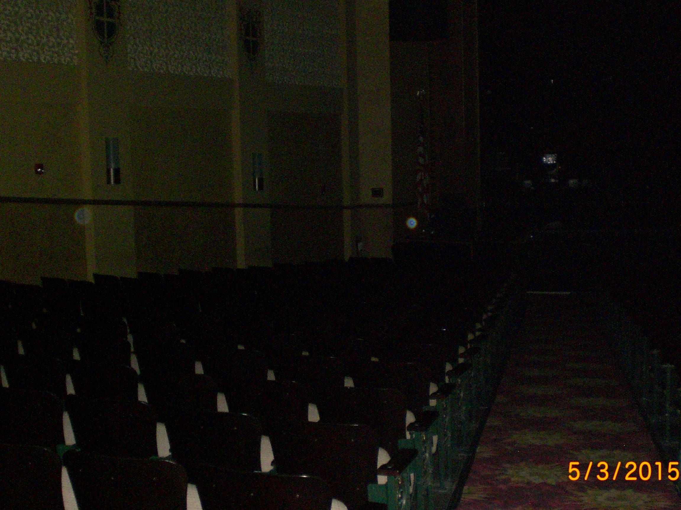 Paranormal activity meets history on the Indian River Hauntings ghost tours in Fellsmere, Vero Beach and Sebastian. This May 2015 photo shows orbs inside the Sunrise Theatre in downtown Fort Pierce.