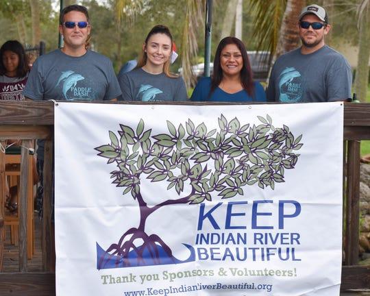 Team Republic members Zach Franks, left, Jillian Floyd, Ashima Wild and Scott Floyd at the 2018 Keep Indian River Beautiful Paddle Dash.