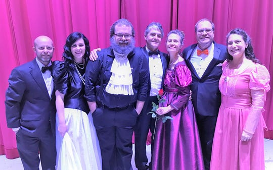 "Florida Arts & Dance Company board member Wes Samons, left, with Kelly Pugh, Daniel White, Matt Saum, Martha Saum, Jeff Banks and Kimberleigh Molchanov at a December performance of ""The Nutcracker"" at The Lyric Theatre in Stuart."
