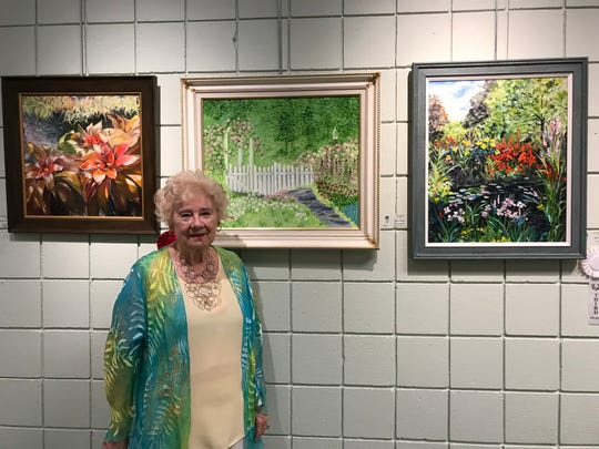 Artist Alice Shann exhibited this painting at the Palm City Art Associates' 2018 Art Show & Sale at the Palm City Cummings Library.