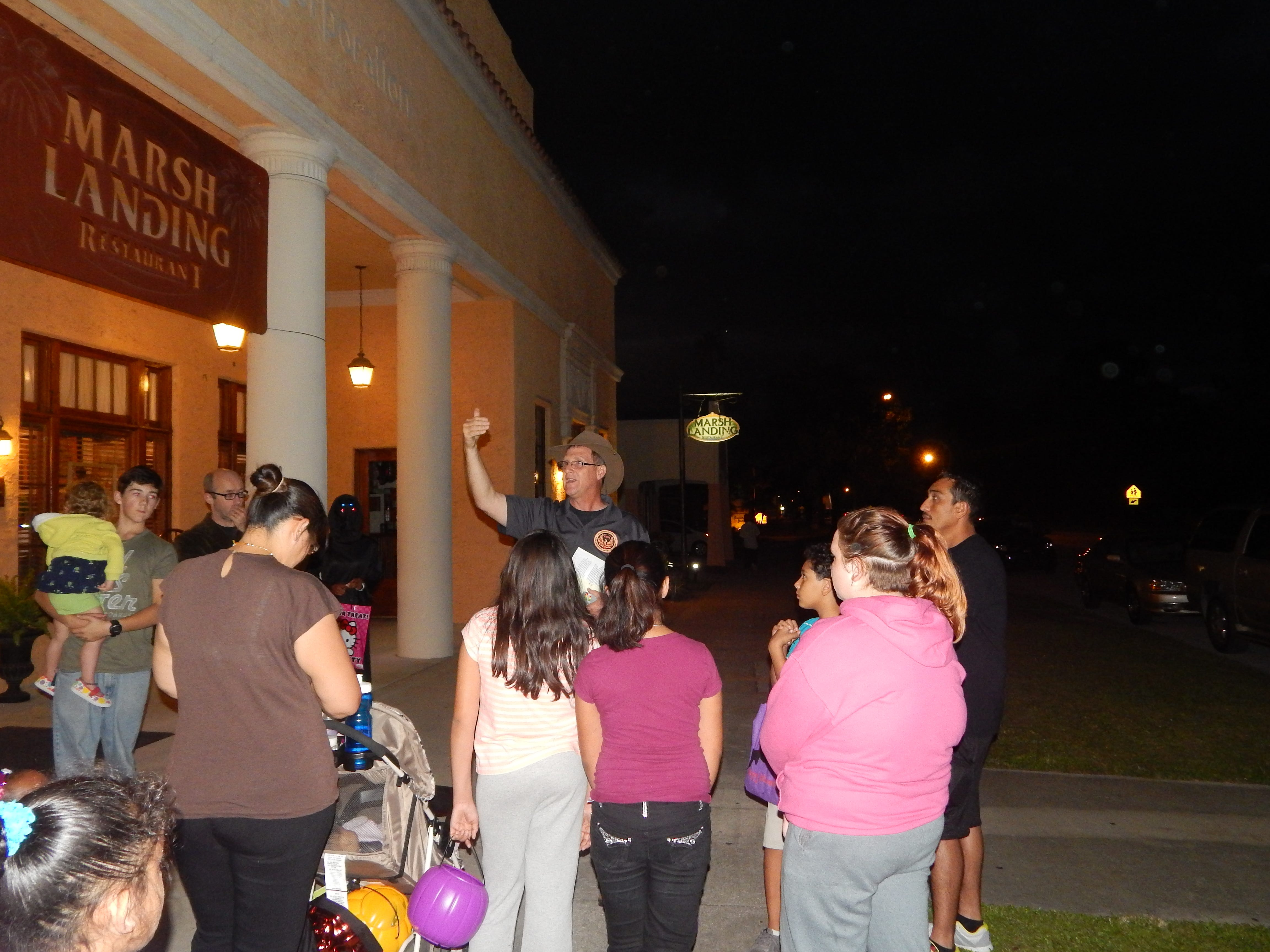 Paranormal activity meets history on the Indian River Hauntings ghost tours in Fellsmere, Vero Beach and Sebastian. Larry Lawson, a paranormal investigator, leads a Fellsmere tour in 2016.