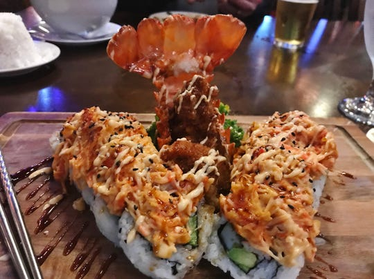 Roy's Volcano Lobster Rolls was stuffed with tempura lobster.