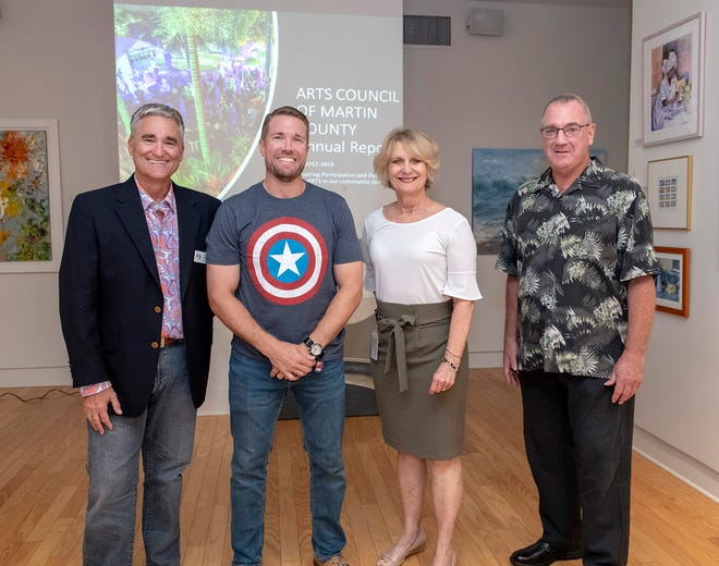 Arts Council of Martin County's 2019 board of directors and new members, from left, Neil Capozzi, chair; David Deakins Jr., member; Vicki Davis, Governance Committee chair, and Ed Smith, treasurer.