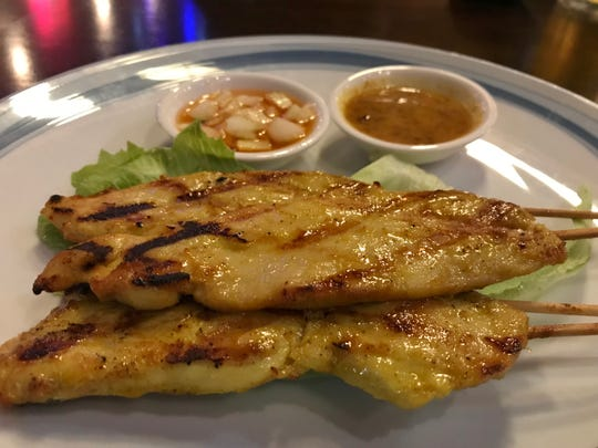Roy's Chicken Satay was tender, thin, marinated tenderloins skewered and grilled to perfection.