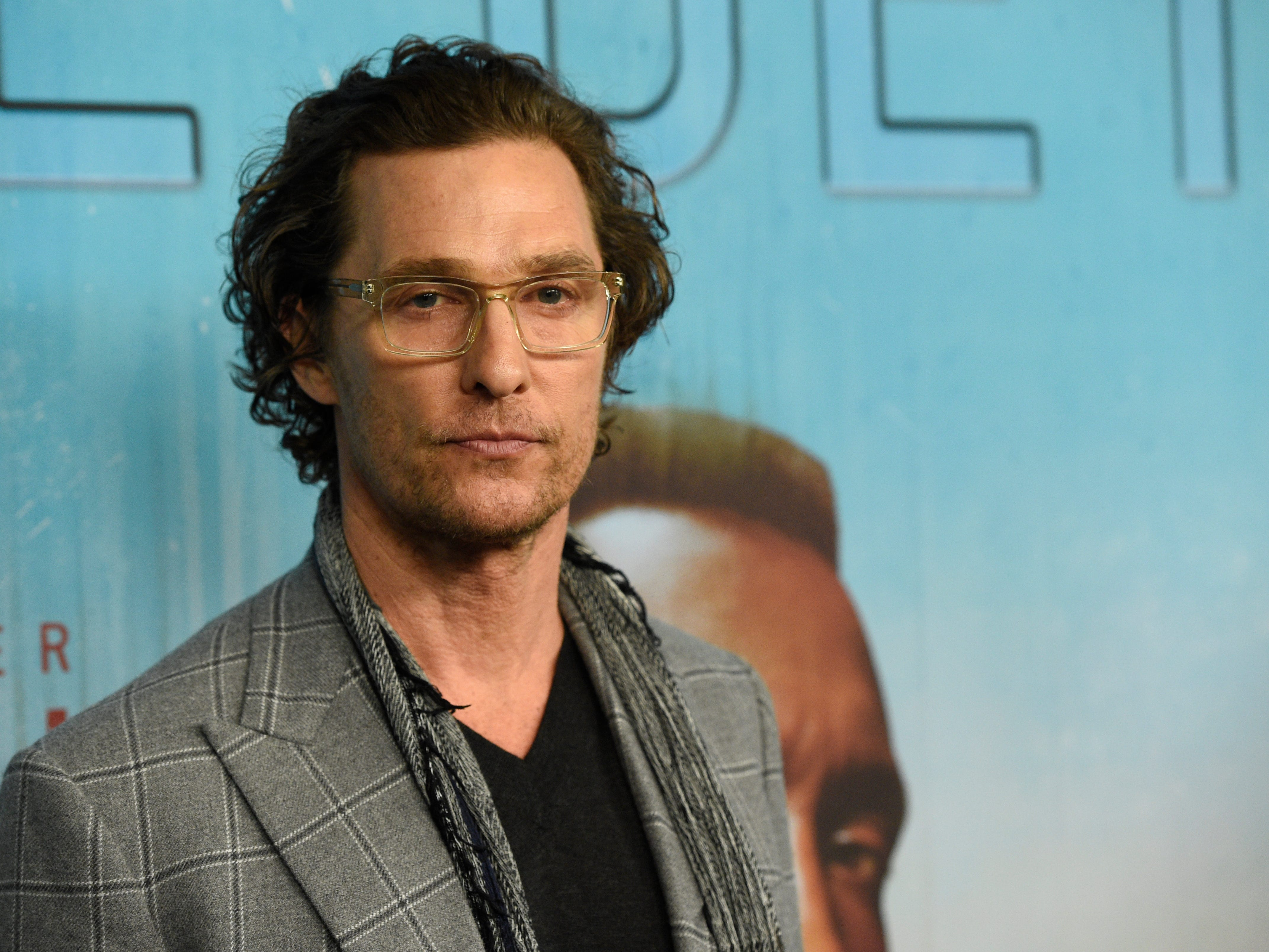 """Executive producer Matthew McConaughey arrives at the Los Angeles premiere of """"True Detective"""" season 3 at the Directors Guild of America on Thursday, Jan. 10, 2019."""