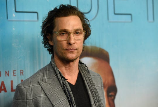 "Executive producer Matthew McConaughey arrives at the Los Angeles premiere of ""True Detective"" season 3 at the Directors Guild of America on Thursday, Jan. 10, 2019."