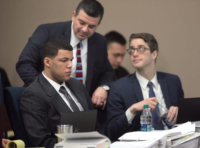 Anthony Michael Bowden, left, was convicted of the Aug. 8. 2016, murder of Erykah Tijerina. His trial was held in the 384th District Court, with Judge Patrick Garcia presiding.