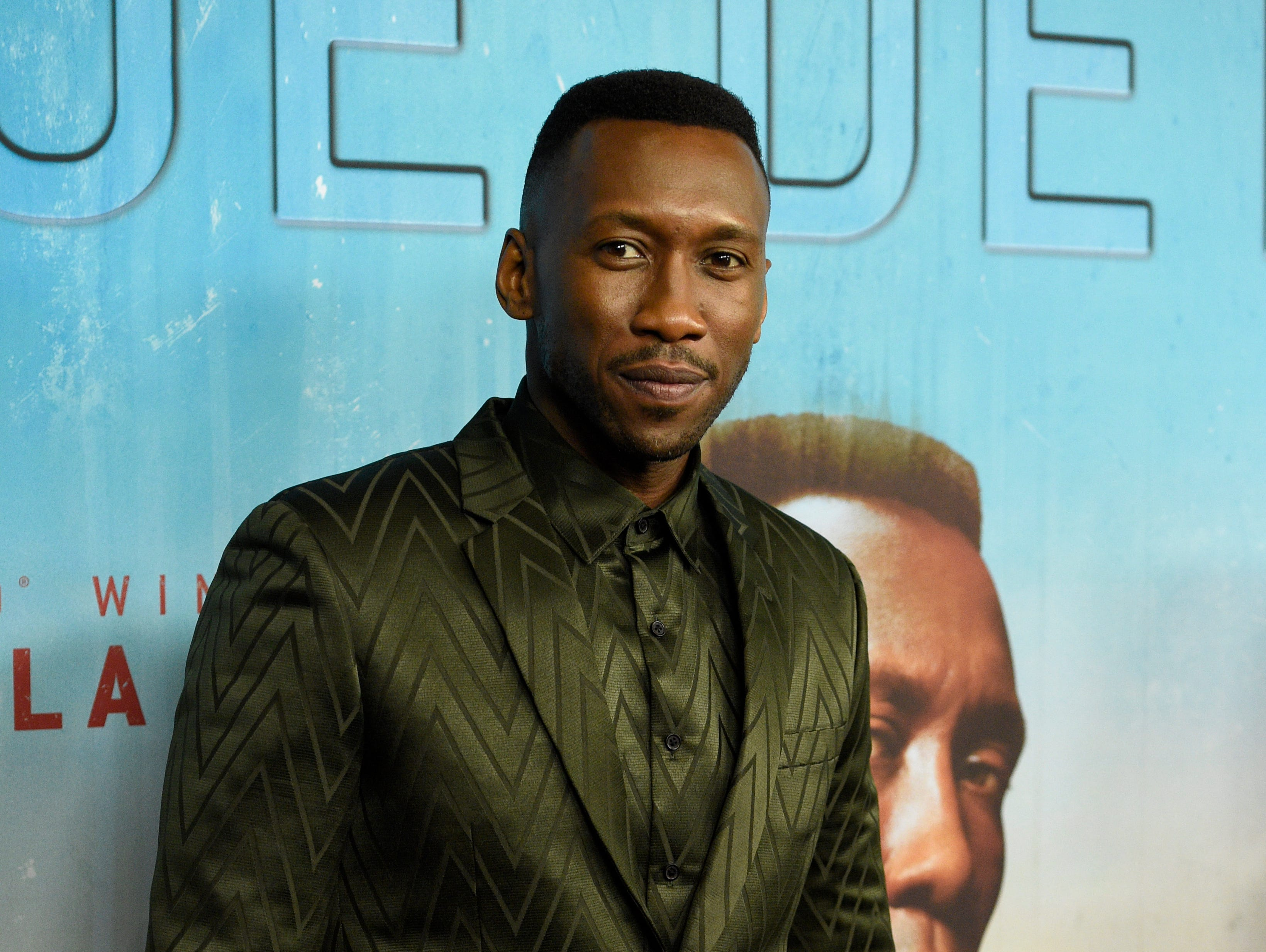 """Mahershala Ali arrives at the Los Angeles premiere of """"True Detective"""" season 3 at the Directors Guild of America on Thursday, Jan. 10, 2019."""