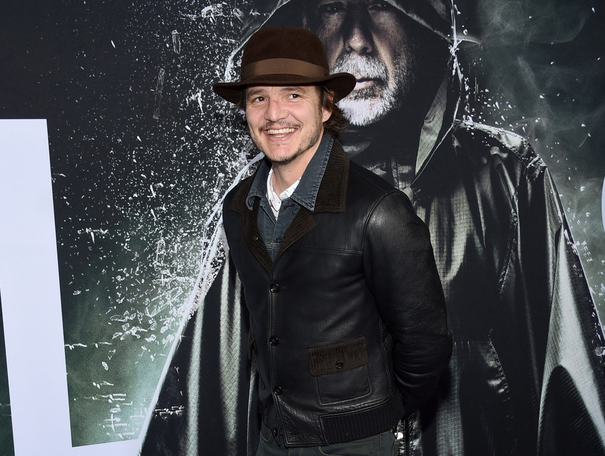 """Pedro Pascal attends the premiere of """"Glass"""" at the SVA Theatre on Tuesday, Jan. 15, 2019, in New York."""