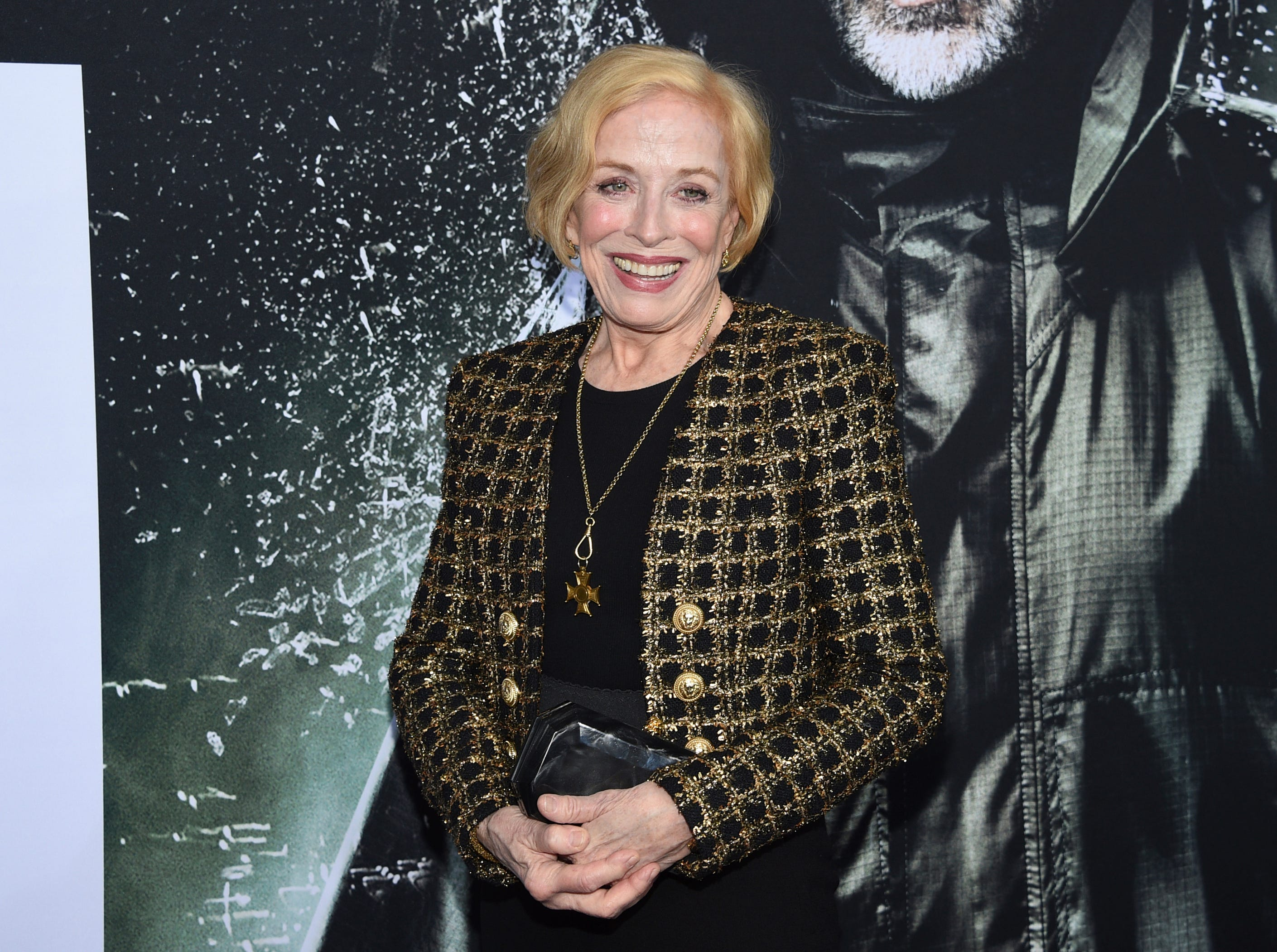 """Holland Taylor attends the premiere of """"Glass"""" at the SVA Theatre on Tuesday, Jan. 15, 2019, in New York."""