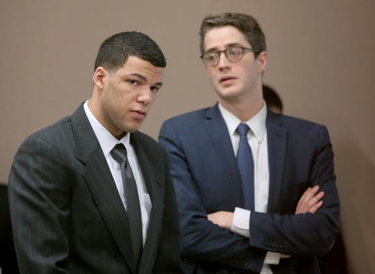 Anthony Michael Bowden, left, faces one count of murder in the death of Erykah Tijerina on Aug. 8, 2016. His trial continues in the 384th District Court with Judge Patrick Garcia.