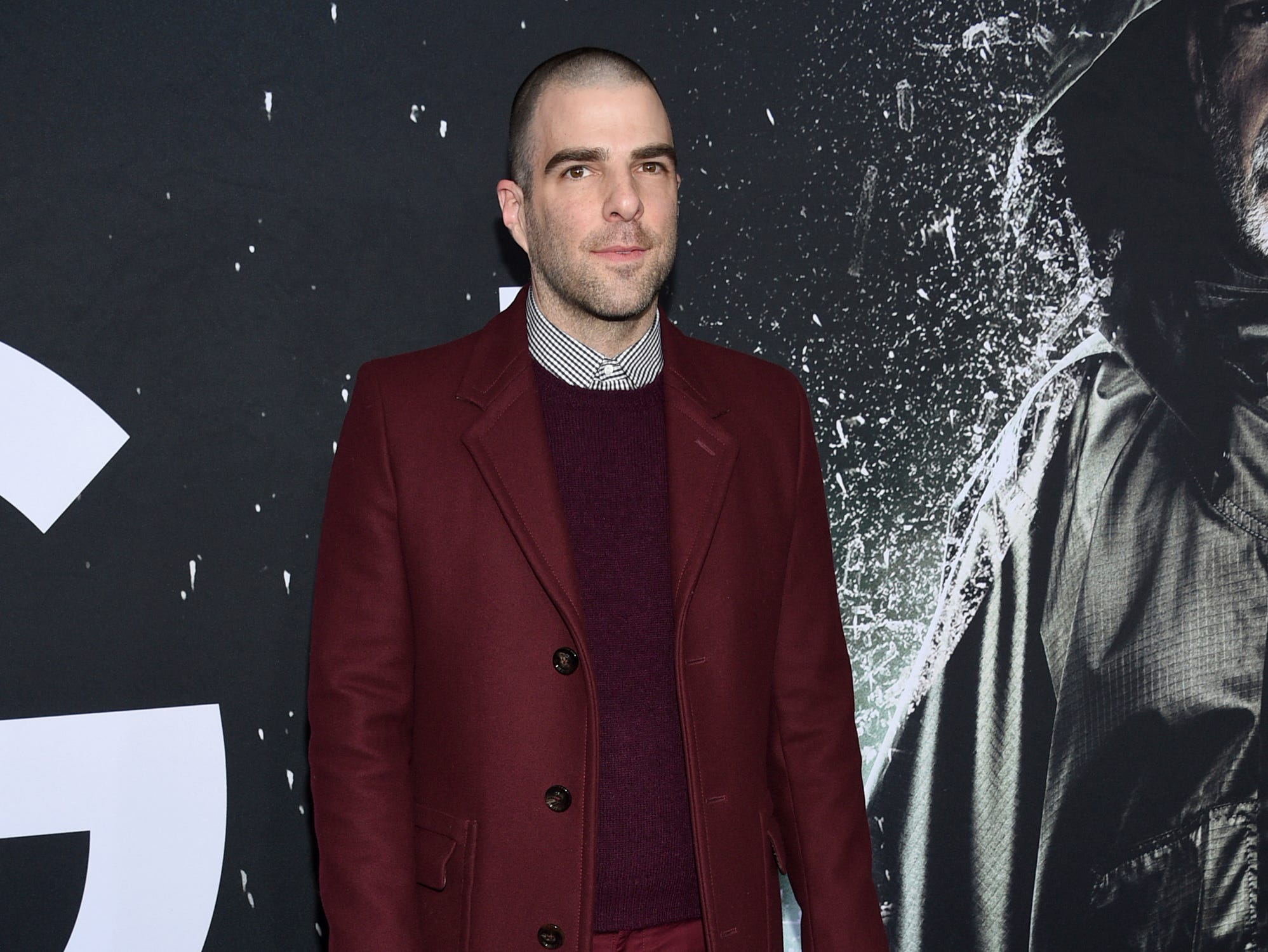 """Zachary Quinto attends the premiere of """"Glass"""" at the SVA Theatre on Tuesday, Jan. 15, 2019, in New York."""