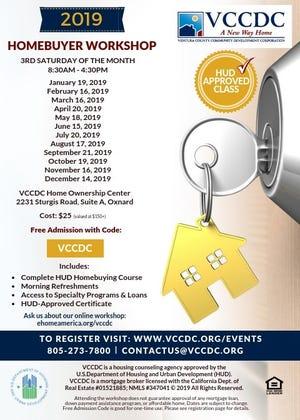 The Ventura County Community Development Corporation will regularly host home buyer workshops in Oxnard.