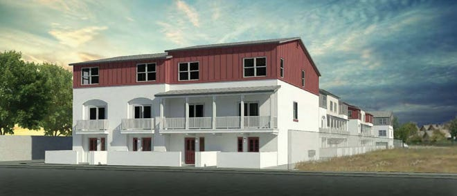 A rendering of a townhome project approved by the Oxnard City Council for 5489 Saviers Road.