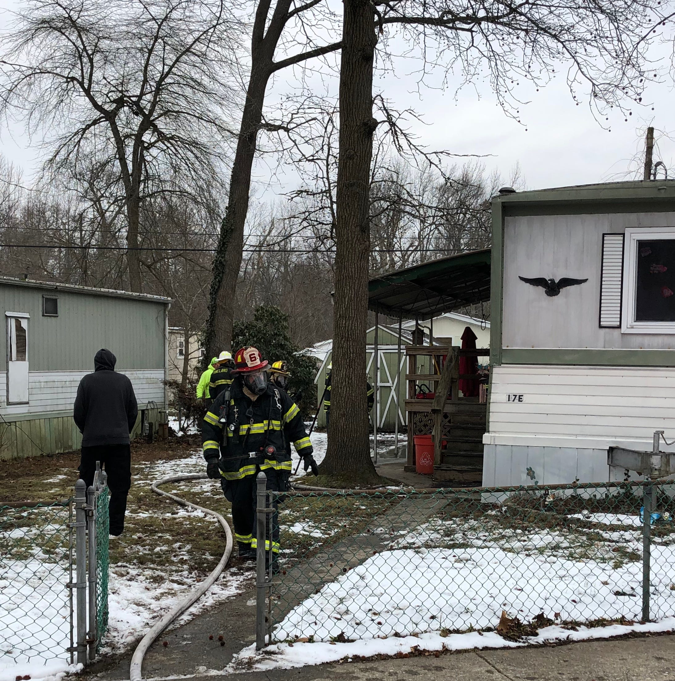 Vineland family displaced by fire at mobile home park
