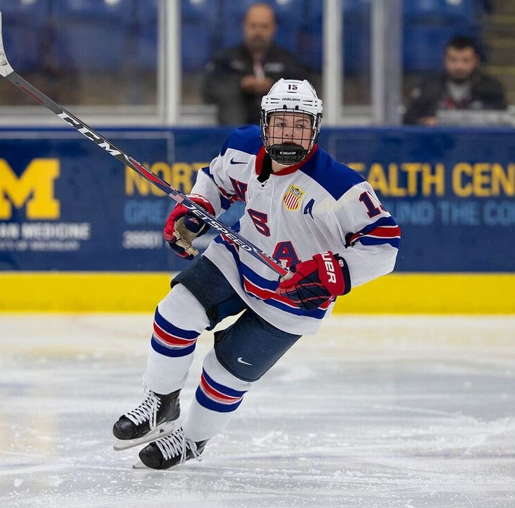 Central Wisconsin's Cole Caufield has become a first-round NHL draft prospect