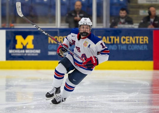 Cole Caufield is in his second year with the USA Hockey National Team Development Program after playing his freshman and sophomore seasons with Stevens Point Area Senior HIgh. The high school senior is projected to be one of the top American-born players selected in the NHL Draft in June.