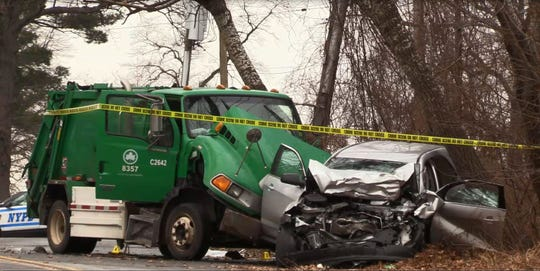 Brian Kessler, an off-duty NYPD officer from New Rochelle, died in a head-on crash with a NYC Parks Department garbage truck on Shore Road in Pelham Bay Park in the Bronx, Wednesday, Jan. 16, 2019. He was driving home from work.