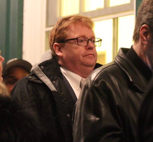 The Rev. Thomas Kreiser accused of inappropriate behavior at St. Joseph's parish in Bronxville waits in line as he returned to court in Bronxville Jan. 16, 2019.