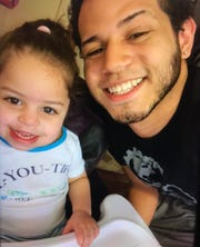 Seniya Benitez and her father, Christian Benitez. New York City police issued an amber alert for them on Wednesday, Jan. 16, 2019, after they said he abducted her in the Bronx. He's not allowed to be unsupervised with her, police said.