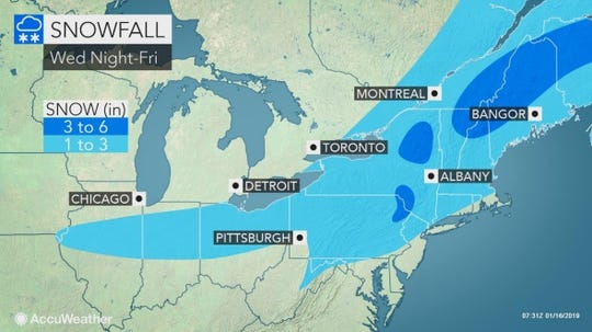 Snow is expected to hit the Lower Hudson Valley on Thursday night and Friday.