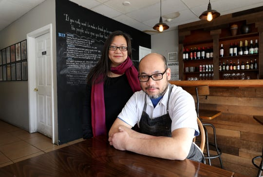 Husband and wife owners, Paolo Garcia Mendoza and Cheryl Baun, are pictured at their restaurant Karenderya, on Main Street in Nyack, Jan. 16, 2019.