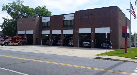 The Delmar firehouse, home of the Delmar Fire Department.