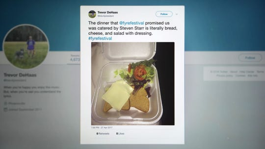 Social media posts from unhappy festival-goers were the first signs of trouble coming out of Fyre Festival.