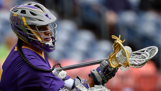 Lyle Thompson, during his Albany lacrosse days