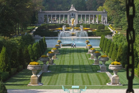 Delaware alphabet: N is for Nemours and other public gardens. Nemours, a Delaware estate built by A.I. du Pont, is based on the Petit Trianon and gardens of Versailles in France.