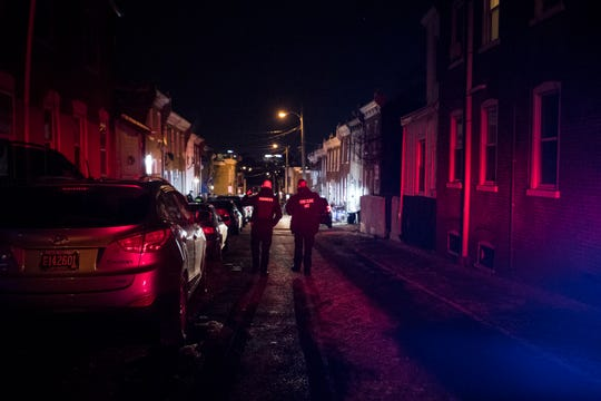 Wilmington Police investigate a shooting on Conrad Street Tuesday, Jan. 15 in Wilmington.