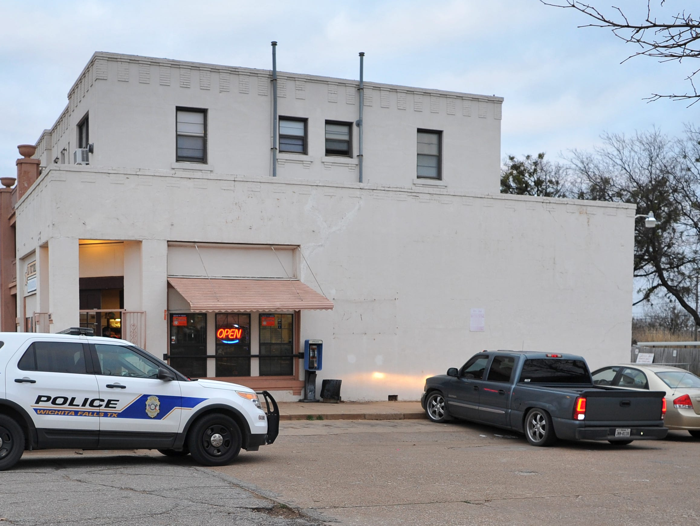 Wichita Falls police work the scene of an aggravated robbery with a weapon at the La Victoria Bakery locate in 1200 block of 11th Street, Tuesday afternoon.
