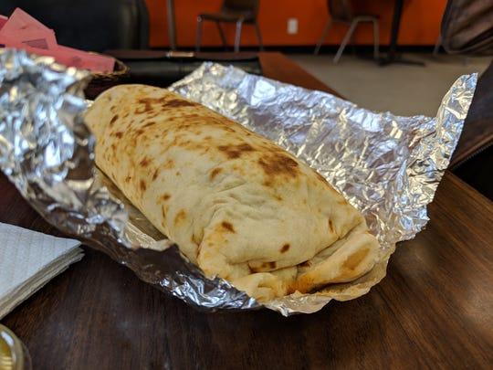 Beef burrito from the Burrito Shop.