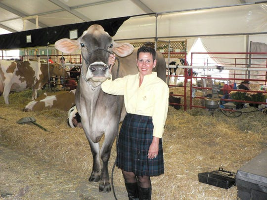 """Bonnie Remsberg, Middletown, Maryland while at World Dairy Expo, says. """"I want to present a confident and professional appearance because we (farmers) are professionals."""""""