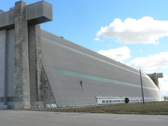 """The huge hanger at the former Tustin Air Base now the Marine Corps Air Base, was built to house """"blimps"""" as they searched for submarines off the coast."""