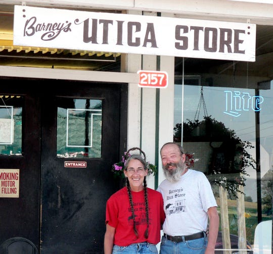 Barney Lambert and Jackie Sperle ran the Utica Store for decades providing food, tobacco seed and many community needs. When they sold out it shortly closed.