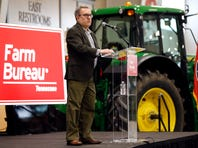 """FILE - In this Tuesday, Dec. 18, 2018, file photo, acting EPA administrator Andrew Wheeler speaks in Lebanon, Tenn. Wheeler and Agriculture Secretary Sonny Perdue met with farmers about a new Trump administration proposal to redefine """"waters of the United States."""" Trump often points to farmers as among the biggest winners from the administration's proposed rollback of federal protections for wetlands and waterways across the country. But under longstanding federal law and rules, farmers and farm land already are exempt from most of the regulatory hurdles on behalf of wetlands that the Trump administration is targeting."""