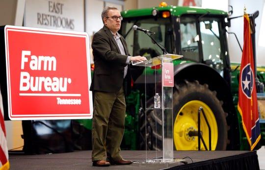 EPA administrator Andrew Wheeler speaks to farmers in Lebanon, Tenn.