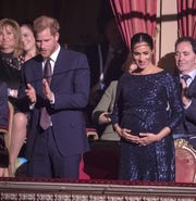 """Prince Harry and Duchess Meghan of Sussex attend the Cirque du Soleil premiere of """"Totem"""" at Royal Albert Hall on Jan. 16, 2019 in London."""