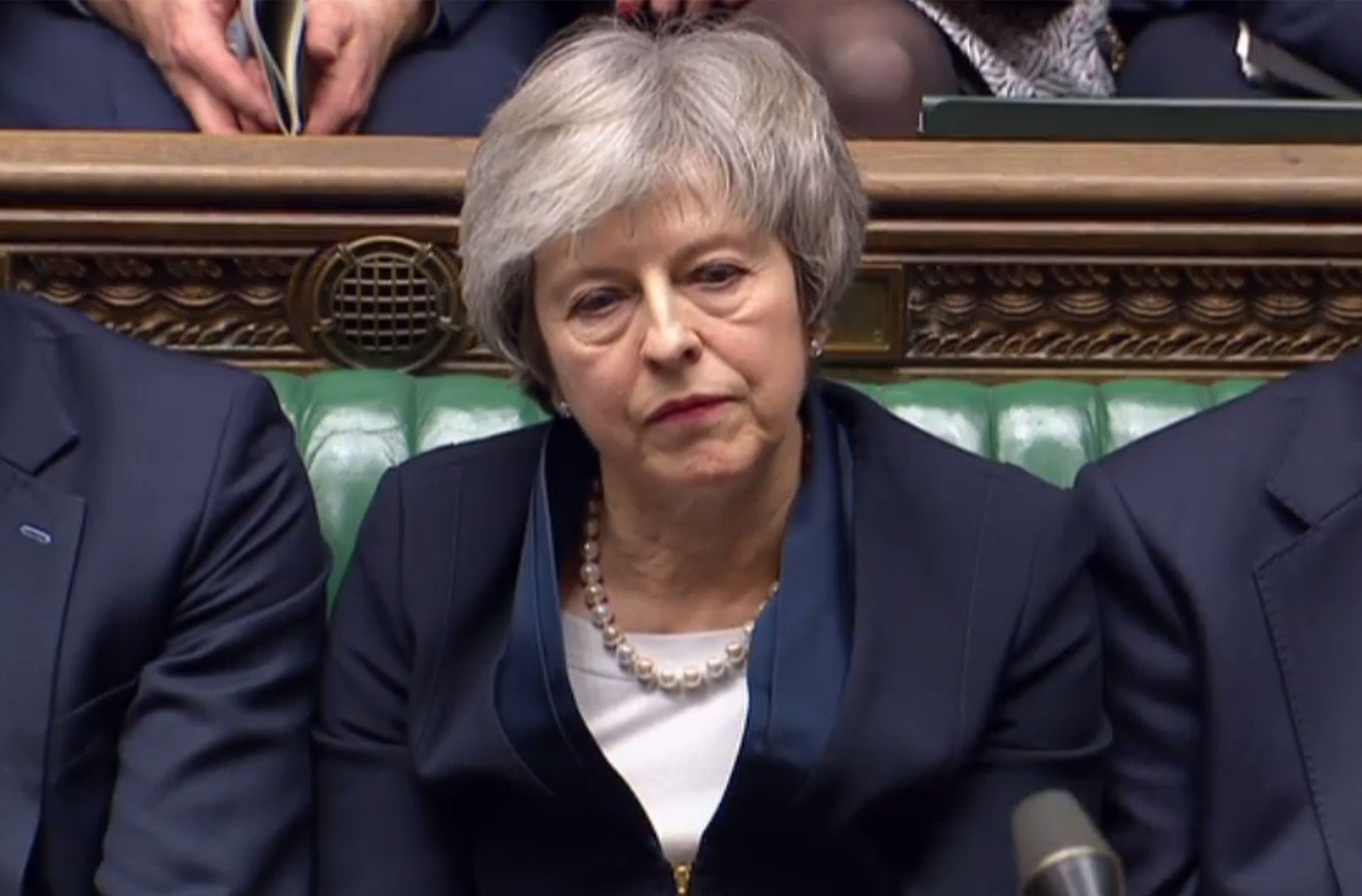 Britain's Theresa May survives 'no-confidence' vote after large Brexit defeat