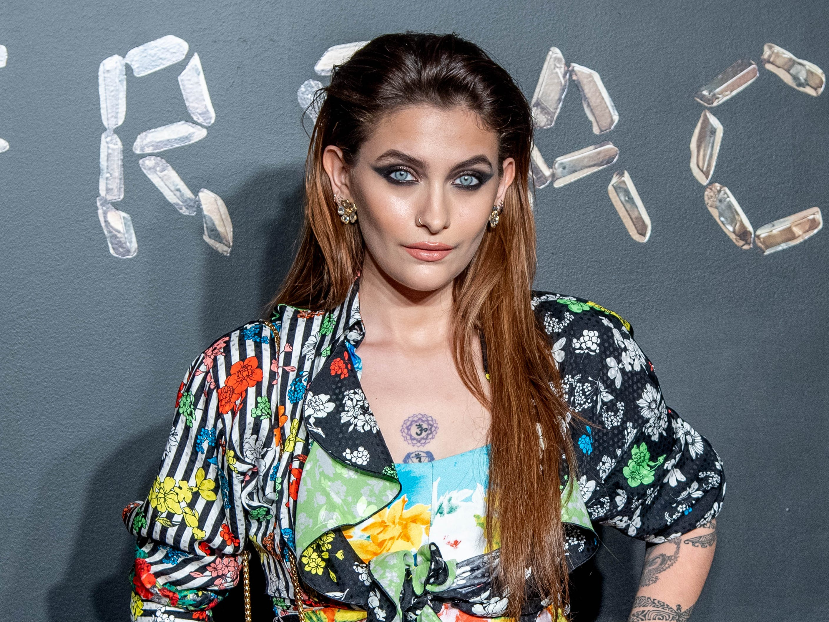 Paris Jackson attends a Versace fashion show on Dec. 2, 2018 in New York City.