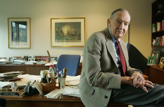 John Bogle in his Malvern, Pa. office on April 12, 2007.